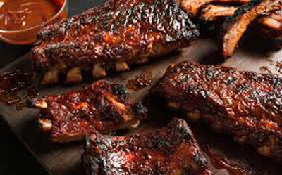 Awesome BBQ Ribs On The Patio And Groovinu0027 Music.